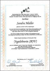 Zertifikate-Yoga